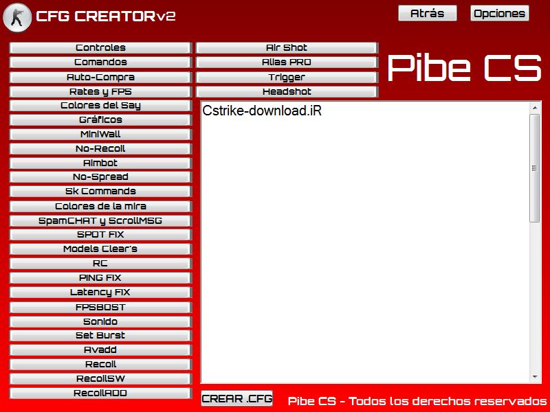 دانلود نرم افزار CFG CREATOR برای کانتر 1.6